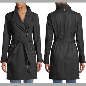 Mackage Estela Belted Trench Coat Contrast Zippers